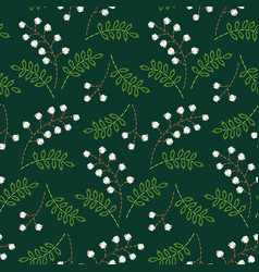 embroidered berries pattern vector image