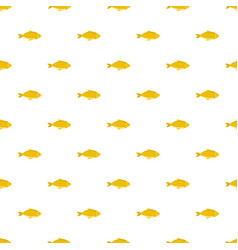fish pattern seamless vector image