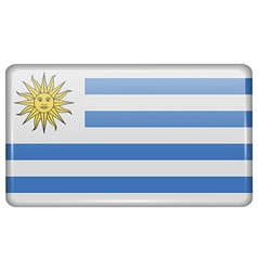Flags Uruguay in the form of a magnet on vector