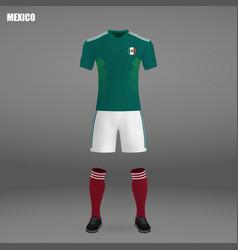 Football kit of mexico 2018 vector