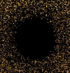 golden explosion confetti vector image