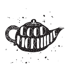 Good morning modern lettering poster vector image