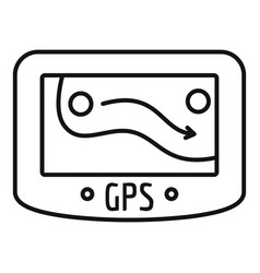 gps device icon outline style vector image