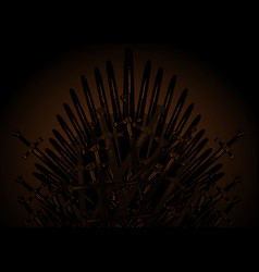 Hand drawn iron throne middle ages made vector