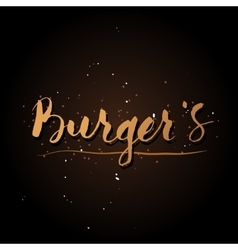 Handwriting Burgers logo vector image