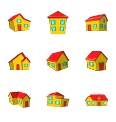 Housing icons set cartoon style vector