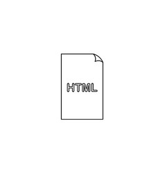 htm html file extension icon vector image