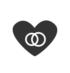 Icon Heart couple vector