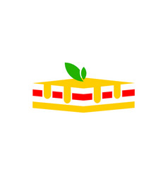 icon of pie vector image