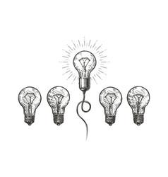 Idea innovation hand drawn business concept vector