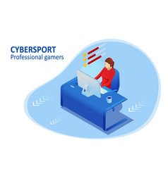 Isometric cybersports competition cybersport vector
