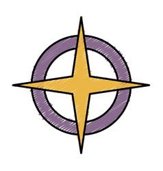 Location star icon vector