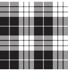 Macleod tartan plaid texture black white seamless vector