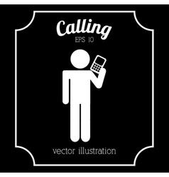 Man calling vector