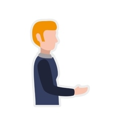 Man receibe get male avatar person people icon vector