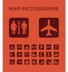 Map pictographs collection vector