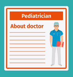 Medical notes about pediatrician vector
