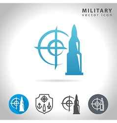 Military blue icon vector image