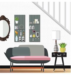 Modern and stunning living room decor vector