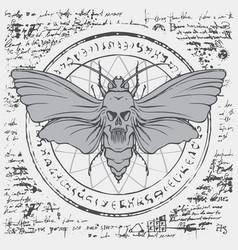 Moth acherontia atropos on an abstract background vector
