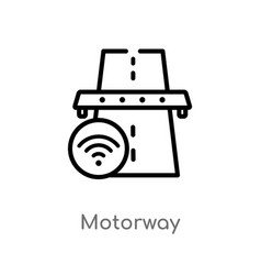 Outline motorway icon isolated black simple line vector