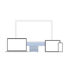 pc laptop tablet computer mobile phone vector image