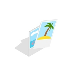 Photographs from vacation icon isometric 3d style vector