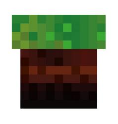 Pixelated terrain game icon vector
