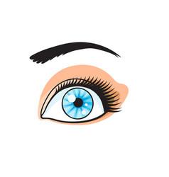Pop art style eye sticker vector