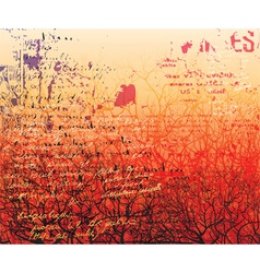 Red forest vector