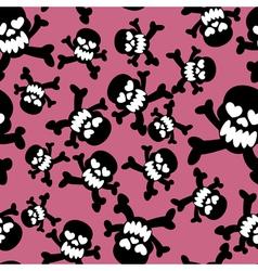 Seamless skeleton pattern vector image