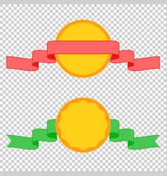 Set of colored insulated ribbons of banners and vector