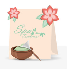 Spa herbal treatment to skin care vector