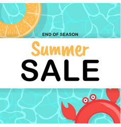 summer sale background poster template vector image
