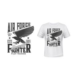 t-shirt print air force gothic eagle hawk vector image