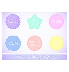 Tag discount pastel vector