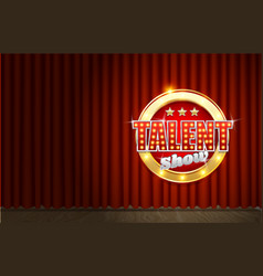 Talent show poster template realistic vector