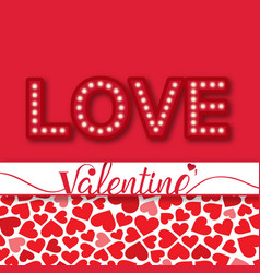 Valentine day love a lot of heart image vector