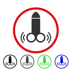vibro dildo rounded icon vector image
