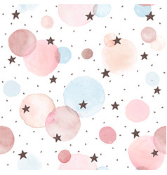 watercolor circles pattern vector image