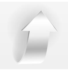 White arrow vector