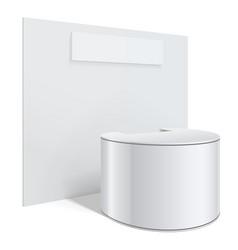 White reception or information desk vector