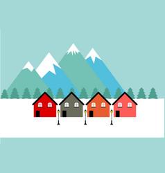 winter logo vector image