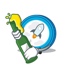 With beer stellar coin character cartoon vector