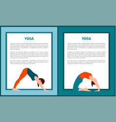 Yoga woman in various poses vector