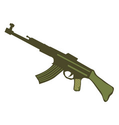 automatic weapons vector image