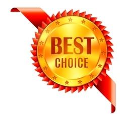 Best Choice Award vector image vector image