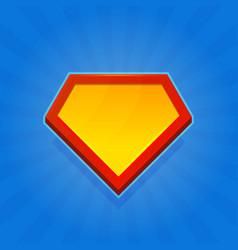 blank superhero logo icon on blue background vector image vector image