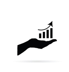 business success in hand vector image vector image