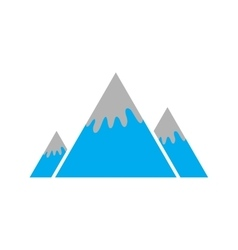 Flat icon on white background canadian mountain vector